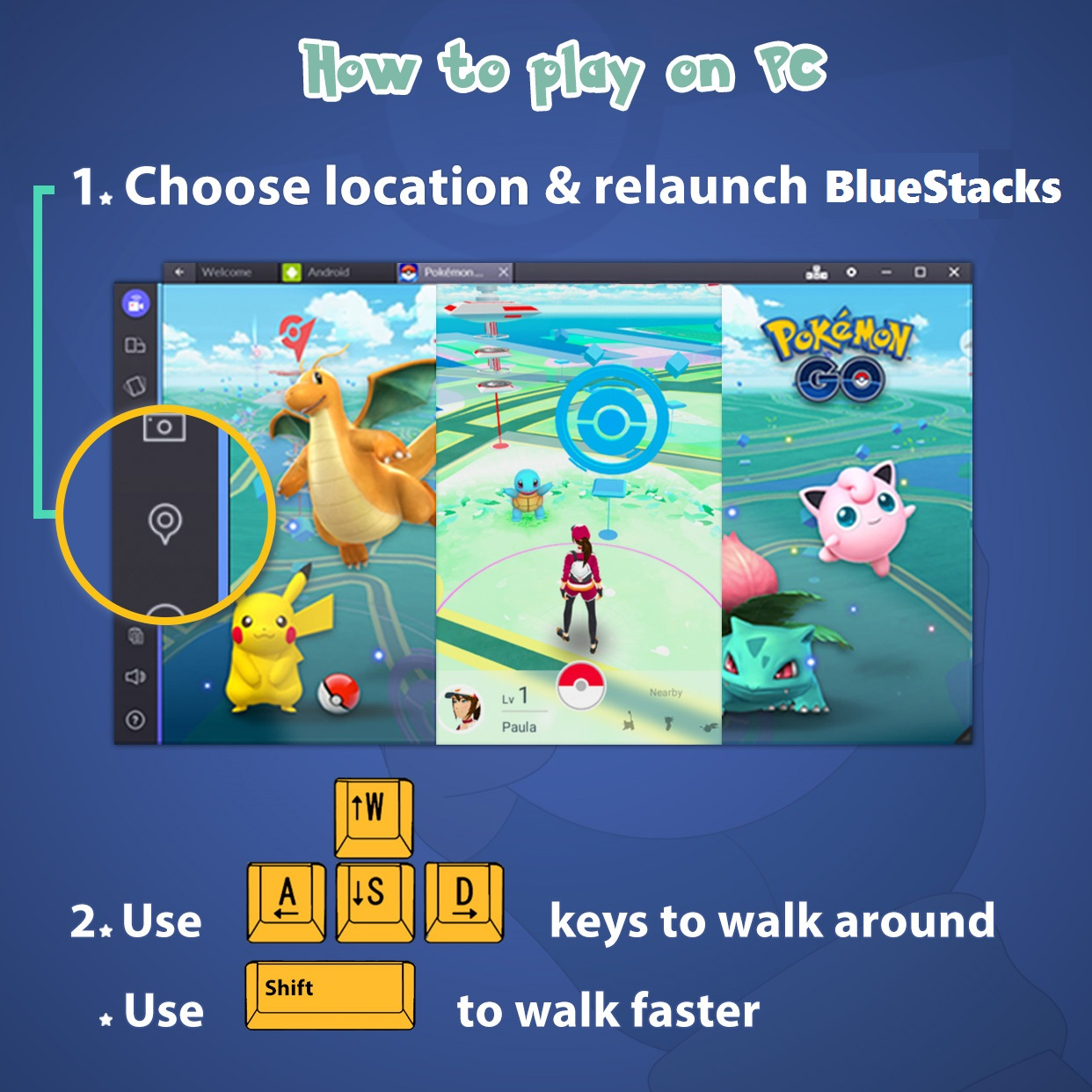 Come giocare Pokémon GO su PC con BlueStacks - AndroidGamer it